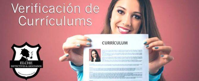 Verificación de Currículums. Detección y comprobación de datos laborales. Servicios Elche Detectives